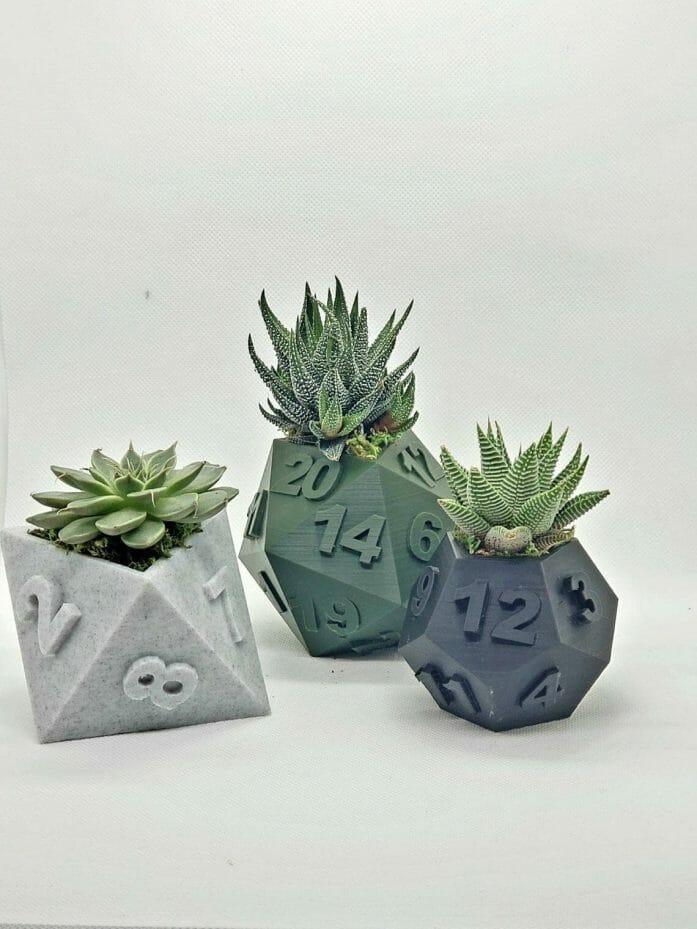 Tabletop Dice Printed Plant Pots