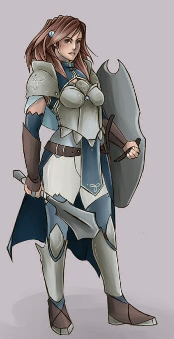Female Warrior by thedanddmon
