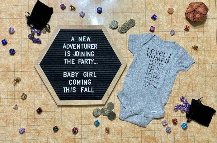 A new adventurer is joining the party... baby girl coming this fall