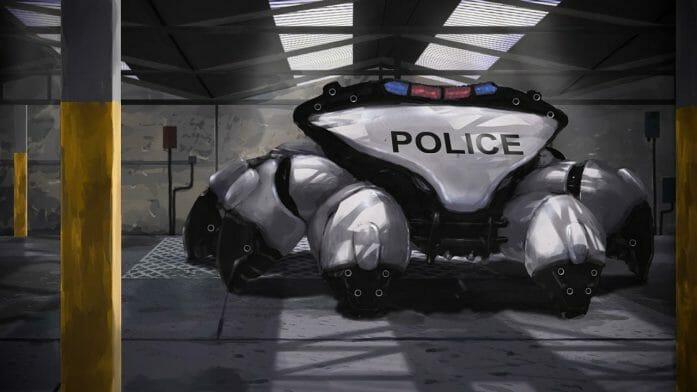 Police Mech by Sketchbookuniverse