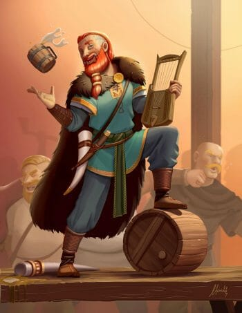 Bragi the norse god of music and poetry by  Mauircio-Morali