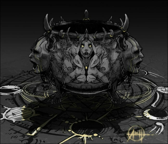 Knight of the Sun cauldron