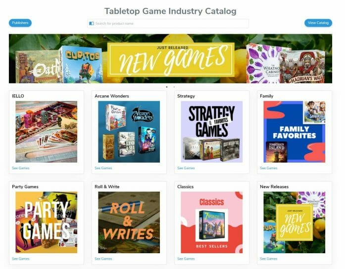 Tabletop Game Industry Catalog