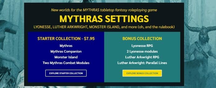 Mythras, Lyonesse, Monster Island and Luther Arkwright in bundle