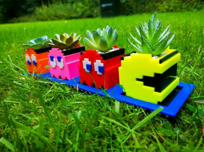 Pac-man and Ghost planters