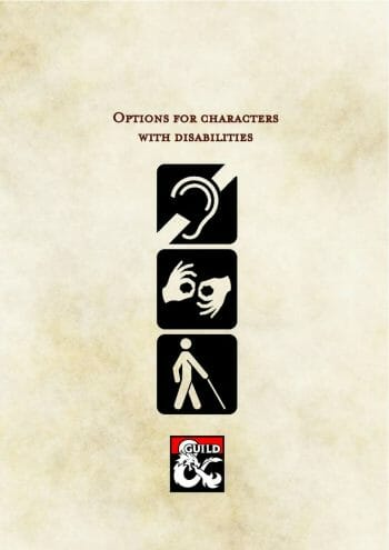 Options for characters with disabilities