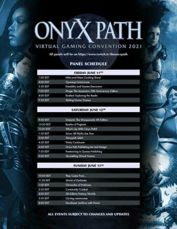 Onyx Path Virtual Gaming Convention