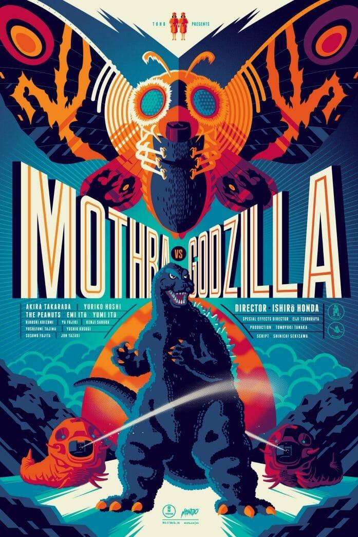Tom Whalen Mothra poster at Mondo