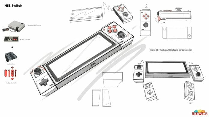 The NES Switch concept art sketch