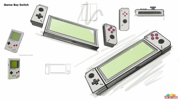 The Game Boy Switch concept art sketch