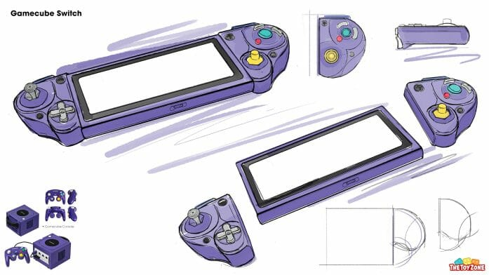 The Gamecube Switch concept art sketch