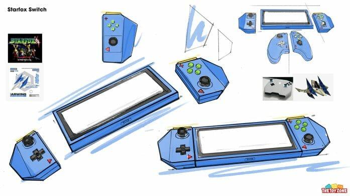 The Star Fox Switch concept art sketch