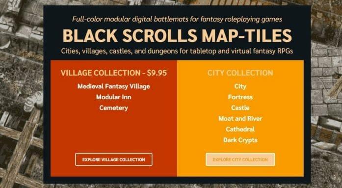 Black Scrolls map-titles