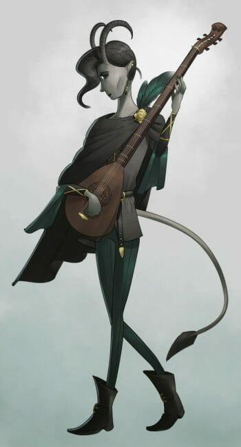 Elijah - Tiefling Bard by BlackSpotDesign