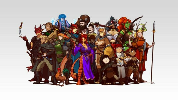 Dungeons and Dragons Character Lineup by Blazbaros