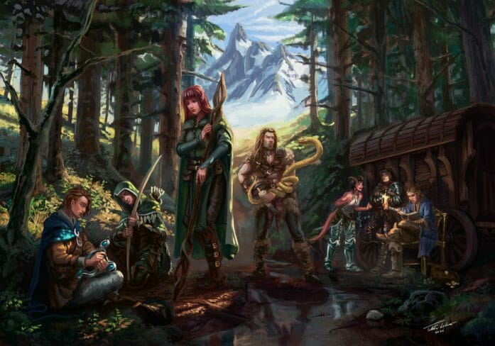 Adventuring Party by ANIME407,