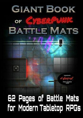 Giant Book of Cyberpunk Battlemaps