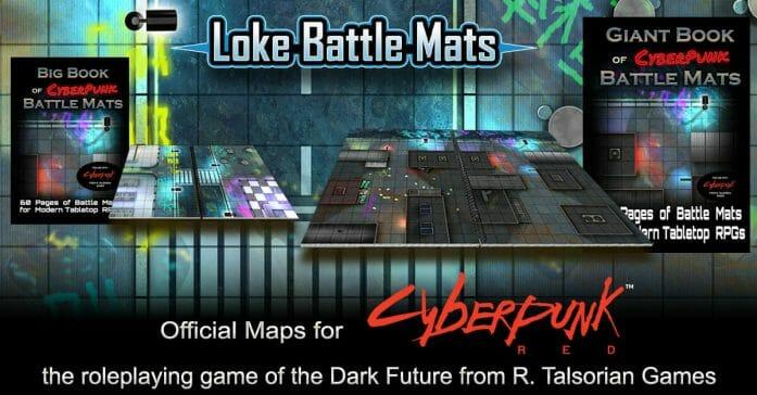 R. Talsorian Games and Loke Battle Mats have revealed a new range of Cyberpunk Red battle mats.