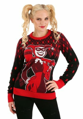 Harley Quinn adult ugly Christmas sweater