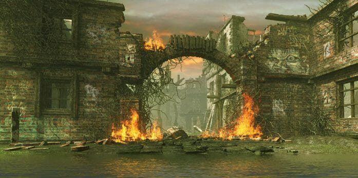 a state burns