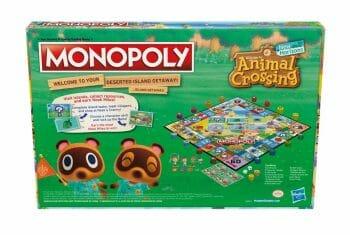 Animal Crossing Monopoly back
