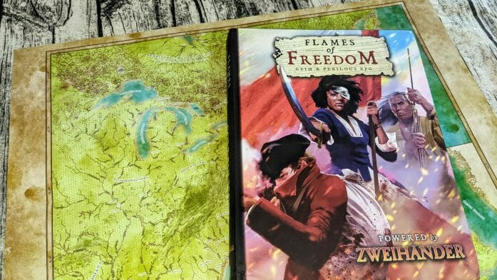 Flames of Freedom cover and map