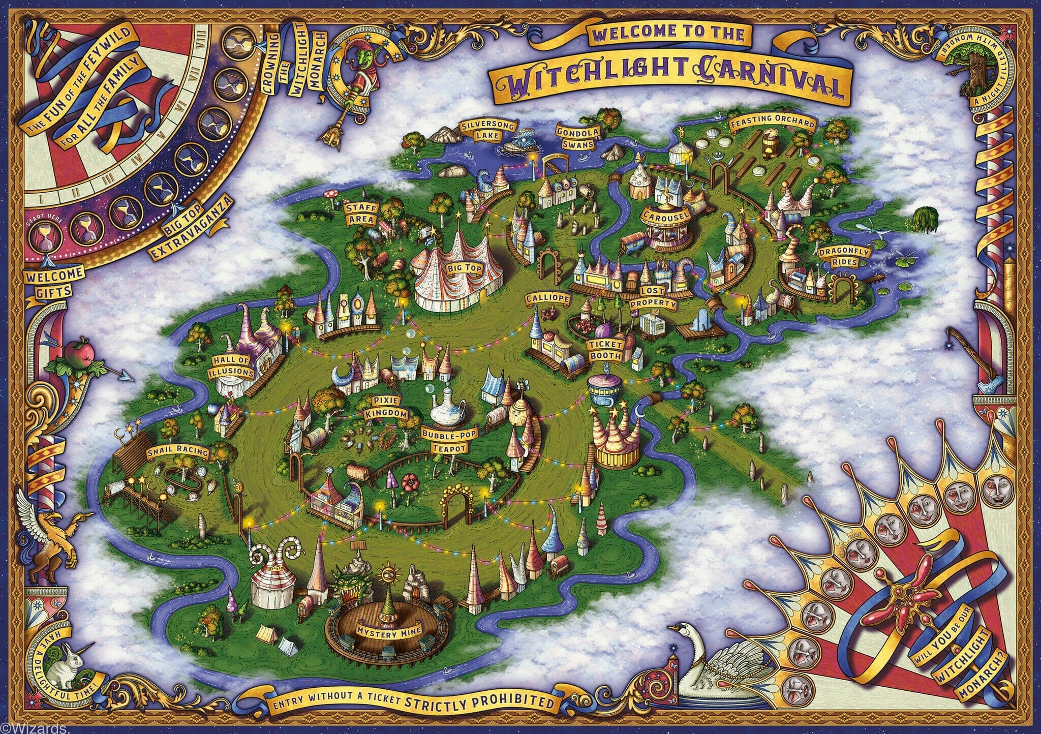 Map of the Witchlight Carnival