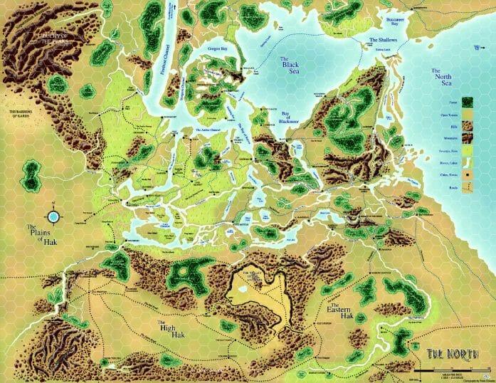 Dave Arneson's Blackmoor North map