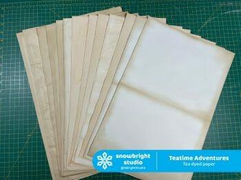 Teatime Adventures - Tea dyed paper
