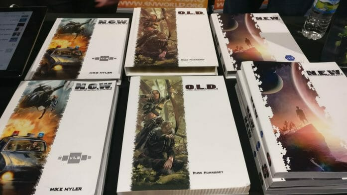 EN Publishing at the previous UKGE - showing WOIN RPG books