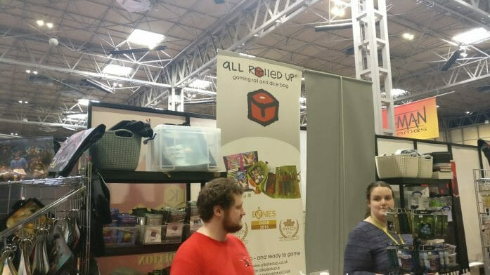 All Rolled Up at the previous UKGE - candid at booth photograph