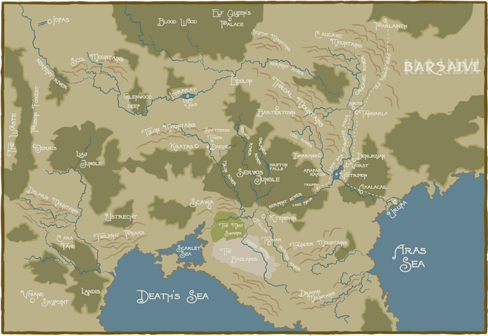 Earthdawn: Map of Barsaive by digitalsushi