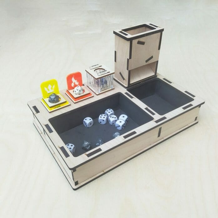 Dice tray and tower