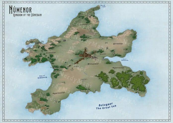 Numenor map