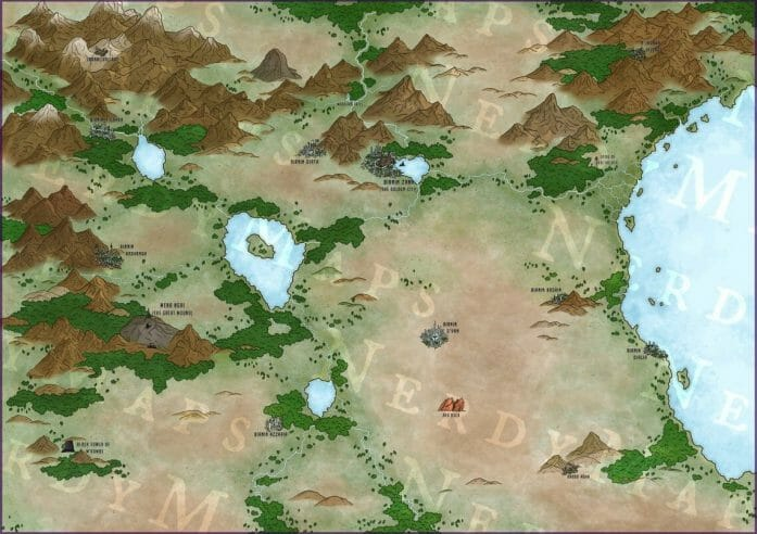 Wakanda map