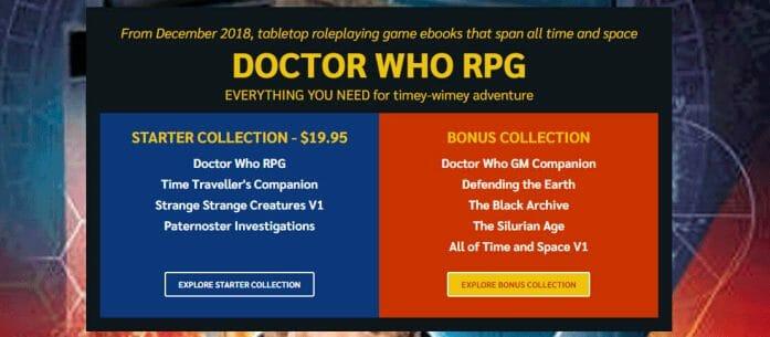Doctor Who RPG bundle
