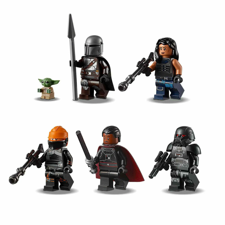 Mandalorian, Dark Trooper and Baby Yoda minifigs