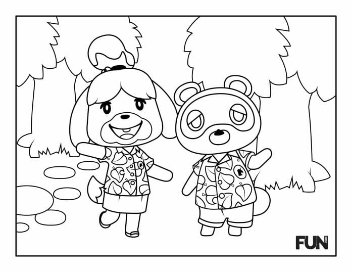 Colour in Animal Crossing