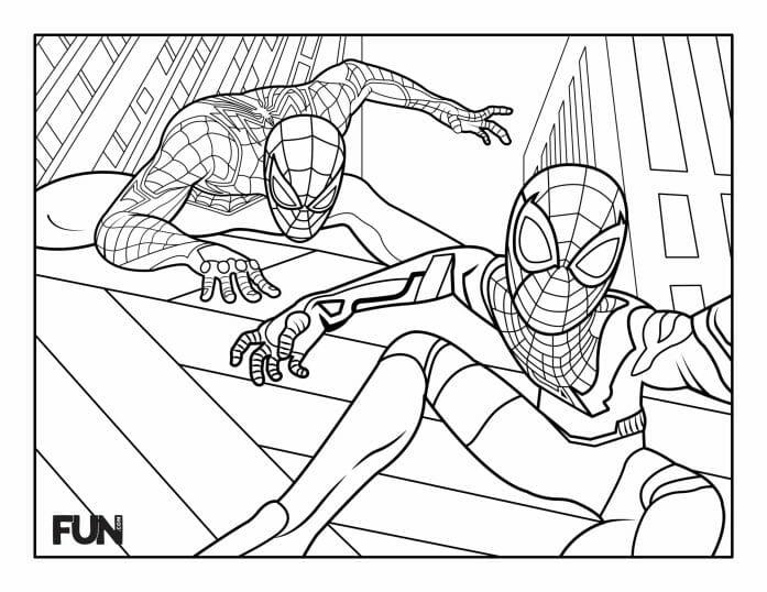 Colour in Spider-man