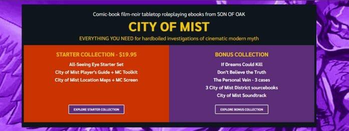 City of Mist bundle