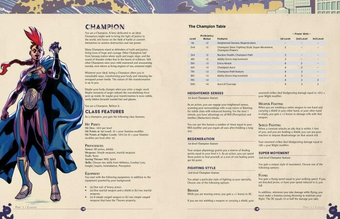 Legends of the MetaVerse 5e RPG layout preview