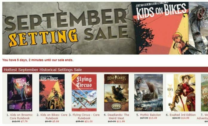 September Setting Sale
