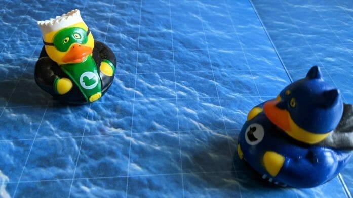 Superhero rubber ducks