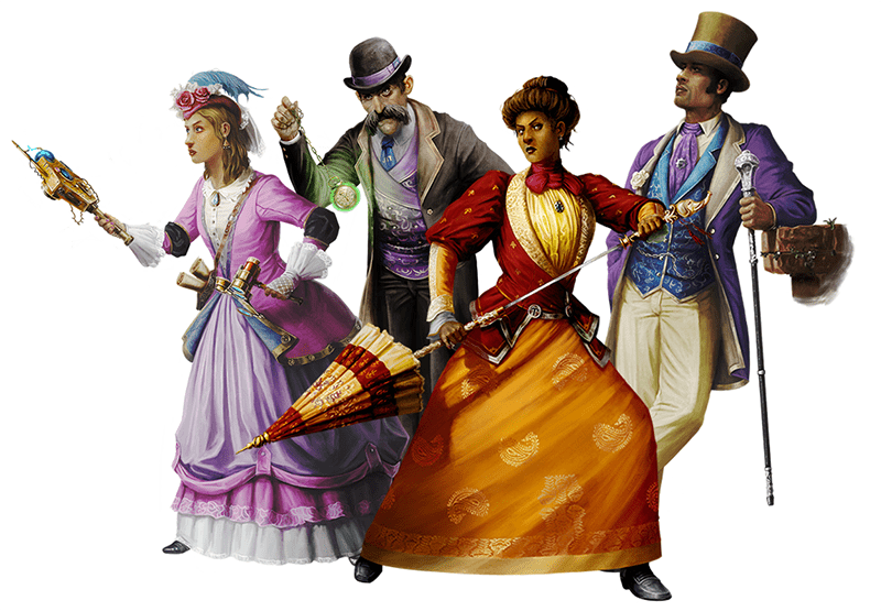 The Inferno RPG quickstart characters