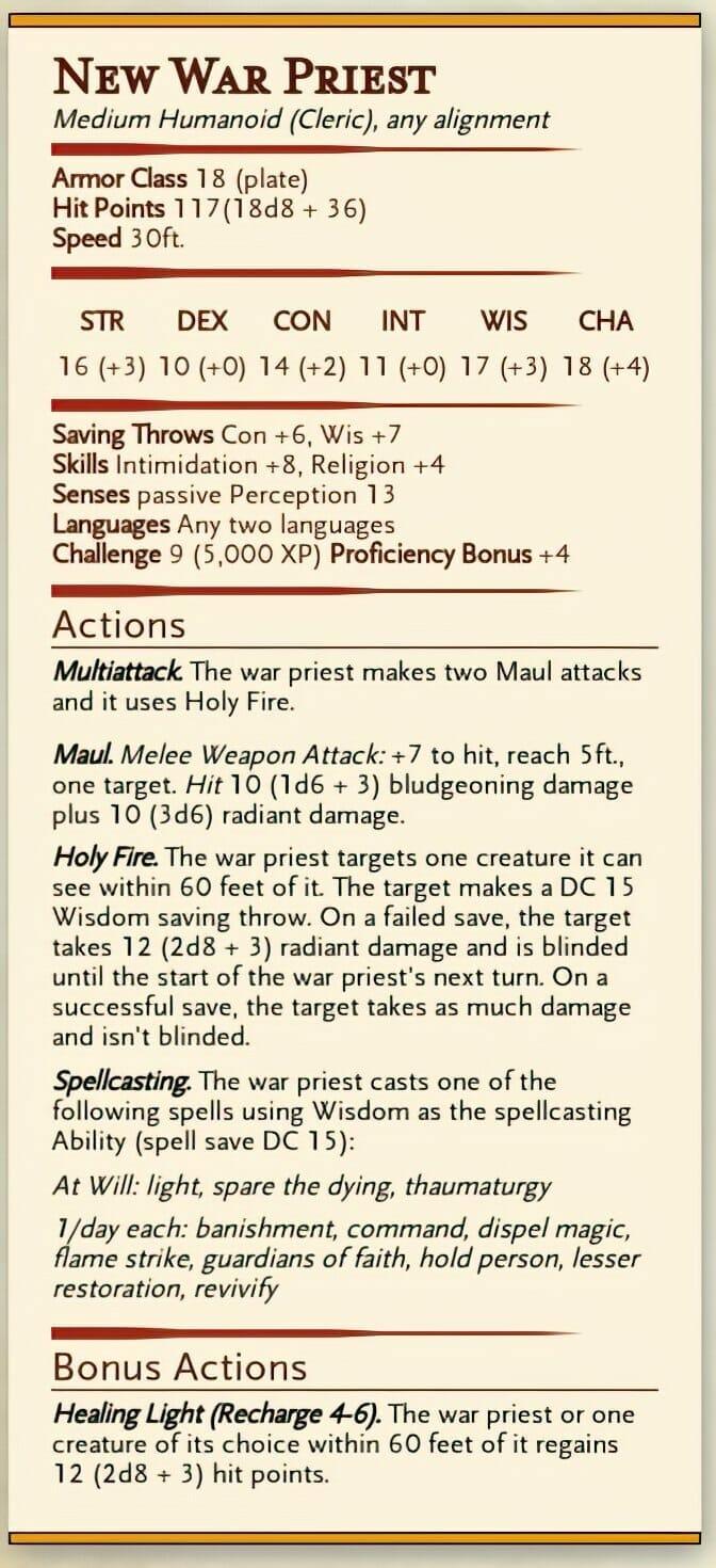 New War Priest