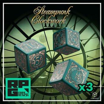 Q Workshop steampunk dice